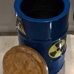 Upcycled Oil Barrel Stool/Storage/Laundry Bin