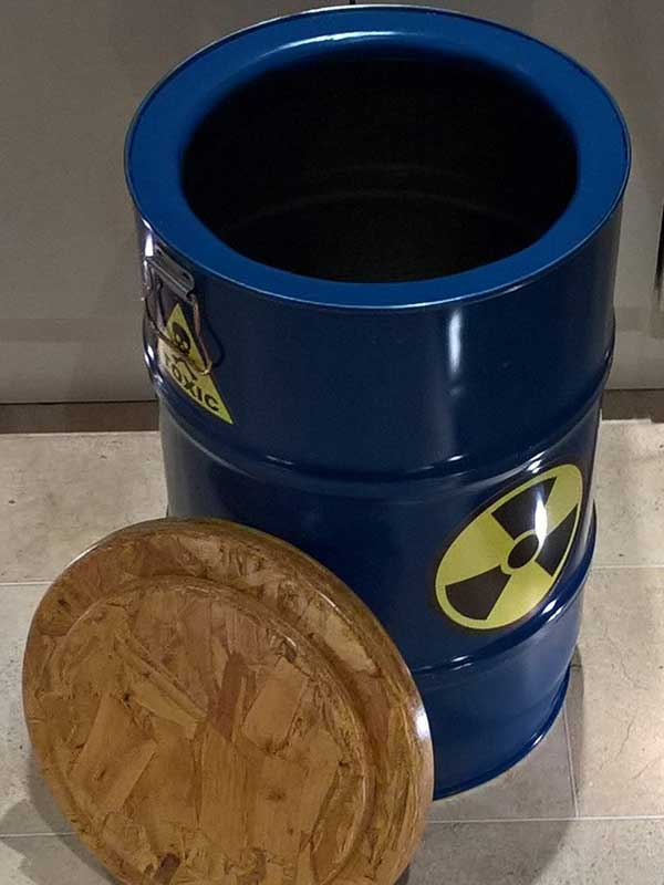 Upcycled Oil Barrel Stool - Storage - Laundry Bin